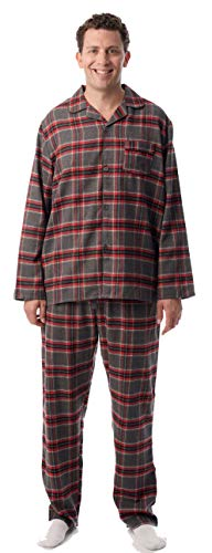 Pj Coat Set (#followme Mens Flannel Pajama Coat Set 44917-4-XL)