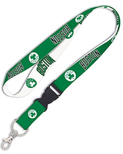 Boston Celtics NBA 1 inch Wide Detachable Lanyard Keychain (Boston Snap Celtics)