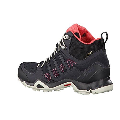 adidas Terrex Swift R Mid Gtx W, Botas de Montaña para Mujer, Negro (Nero Negbas/Negbas/Rostac), 42 EU