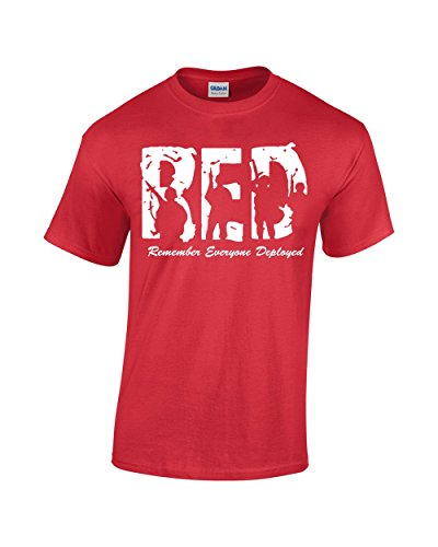 Crazy Bro's Tees R.E.D. - Remember Everyone Deployed Friday Military Men's T-Shirt