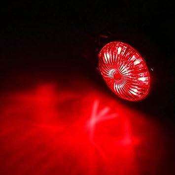 Nrpfell Motocicletta Fanale Posteriore Un LED Luci Stop Freno Integrate Fanalini Posteriori Integrati per Chopper Bobber ATVS Dirt Bike Cafe Racer Buggy Custom Nero