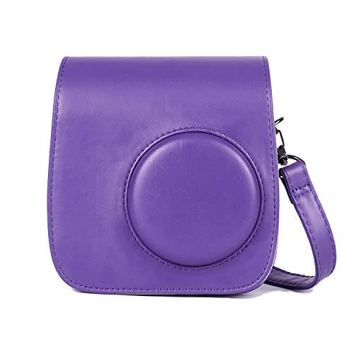 Phetium Protective Case Compatible with Instax Mini 7s Instant Film Camera/Polaroid PIC-300, Premium Vegan Leather Bag Cover with Removable Strap (Purple)