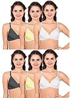 baaed71eff Yockye s Bra for Womens Full Coverage Non Padded Bra- (2 White