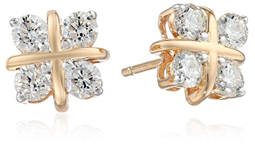 14k Yellow Gold Diamond Hugs and Kisses Diamond Earrings (3/4 cttw, H-I Color, I1-I2 Clarity) 14k Yellow Hugs
