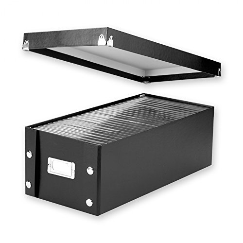 Snap-N-Store DVD Storage Boxes, 15.5 x 5.5 x 7.625 Inches, Black, 2 Boxes per Pack (SNS01618)