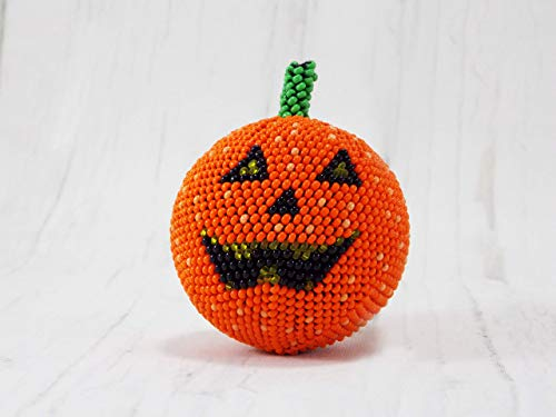 HANDMADE Orange Halloween pumpkins decor ideas party small pumpkins kitchen table centerpiece autumn]()