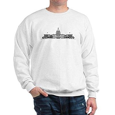 CafePress U.S. Capitol Building Art Sweatshirt - Classic Crew Neck Sweatshirt