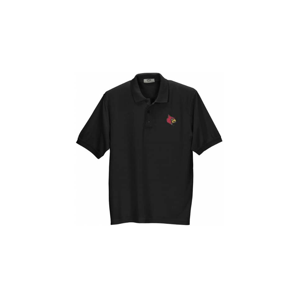 Louisville Cardinals Black Pique Polo Shirt