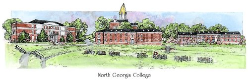 North Georgia College - Collegiate Sculptured Ornament by Sculptured Watercolor Ornaments