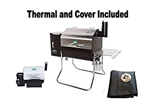 GMG/ESESStoves Green Mountain Grills Davy Crockett Pellet Grill - WIFI Enabled with Cover & GMG Thermal Blanket from legendary Pellethead