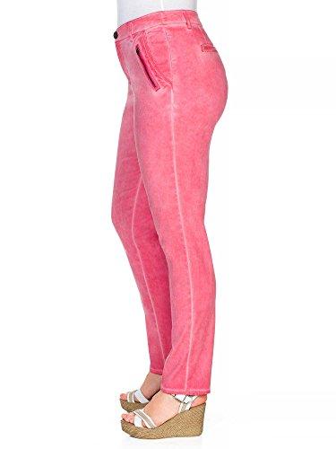 sheego Casual Pantalón tipo chino tallas grandes nueva colección Mujer Rosa