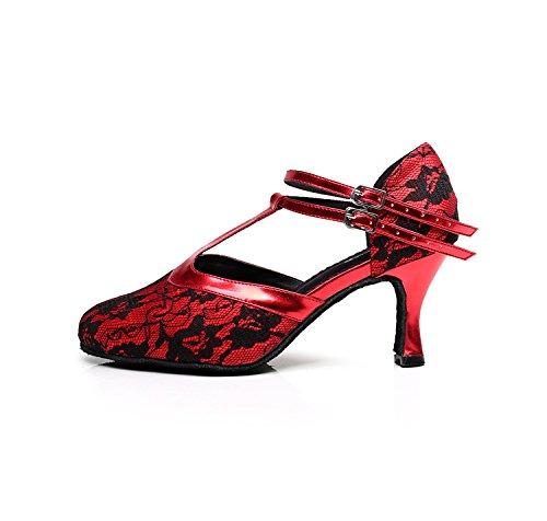Damen Damen Tanzschuhe Minitoo Rot Minitoo Tanzschuhe Rot ZI15q8