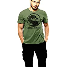 Oldschool Classic Vintage Action Game Green Cotton T-shirt