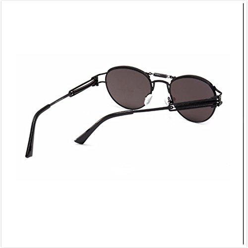 sol UV metálica sol sol de con de polarizadas para de de mujeres hombres montura ovaladas protección Gafas Gafas punky Retro deportivas de Gafas Gafas estilo para de conducc Negro unisex un primavera sol de ZHvEBn4qwx