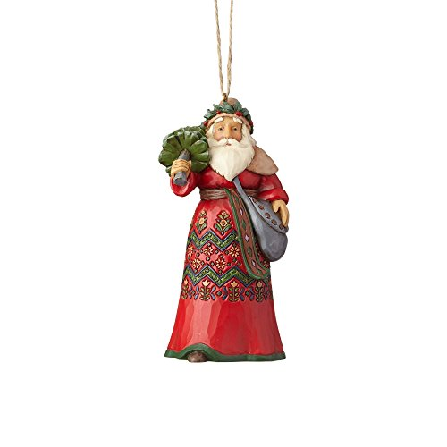 "rtwood Creek Swedish Santa Stone Resin, 4.5"" Hanging Ornament, Multi Color ()"