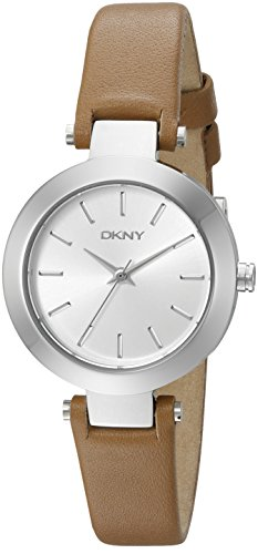 DKNY Women's Stanhope Stainless Steel Watch with Brown Leather Strap (Model: NY2406)