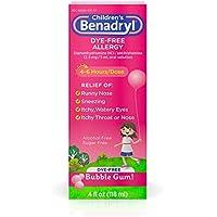 Benadryl Childrens Dye-Free Allergy Liquid, 4 fl. oz