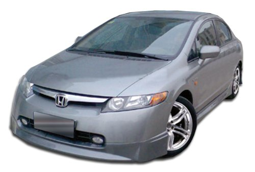 2006-2008 Honda Civic 4DR Duraflex Type M Front Lip Under Spoiler Air Dam - 1 Piece (clearance) (4dr Duraflex Fiberglass Type)