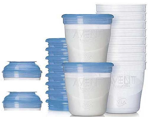 Philips AVENT Breast Milk Containers (10x180ml) - SCF612/10 BBY4ALL