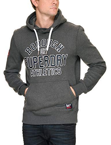 Academy Wyxhxsqyc Sport Para Applique Hood Suéter Superdry Gris Hombre fFfqa6C