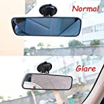 Heart Horse Anti-Glare Rear View Mirror,Car Rearview Mirror Suction Cup with Large Field of View Anti-Glare Mirror…