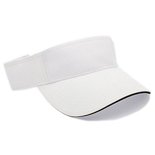 MOISTURE MANAGEMENT OUT DOOR SPORTS SUN VISORS, Quick Dry Hat (WHITE)]()