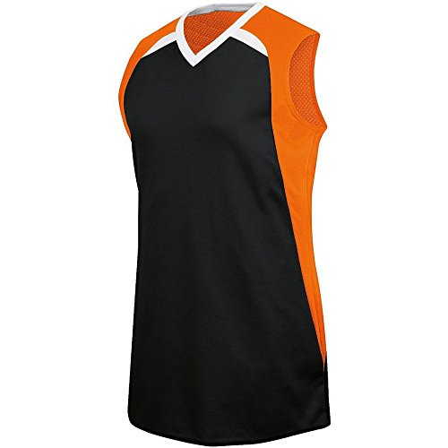 (High Five Fever Jersey - Women's,Black/Orange/White,Large)