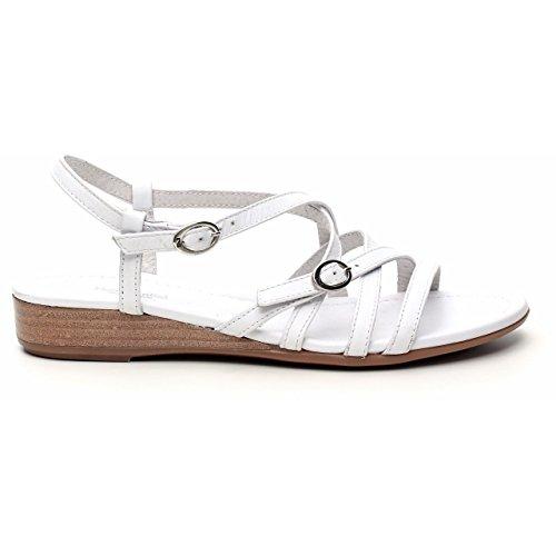 Nero Giardini - Sandalias de vestir de Piel para mujer Varios Colores Multicolore blanco