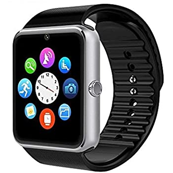 Smartwatch GT08 Bluetooth Smart Watch, Touch Screen Smartwatch Phone with SIM Card Slot Camera Pedometer Sport Tracker for Android Smartphones ...
