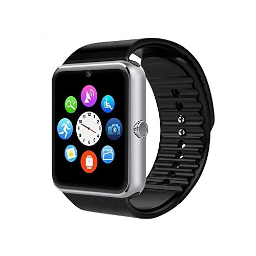Smartwatch GT08 Bluetooth Smart Watch, Touch Screen Smartwatch Phone with SIM Card Slot Camera Pedometer Sport Tracker for Android Smartphones (Sliver) … by Runzhi
