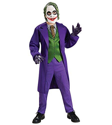 [Joker Deluxe Boys Child Kids Youth Batman Dark Knight Costume (M)] (Joker Costumes Kids)