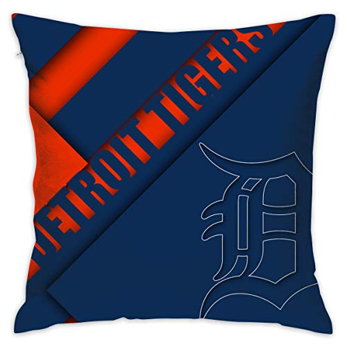 Plotery Detroit Home Decor Sofa Throw Pillow Cover - Double-Sided Color Printing Pillowcase 18x18 Inch