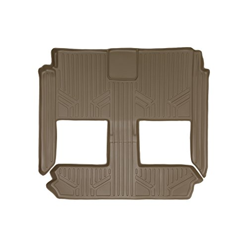 SMARTLINER Floor Mats 2nd and 3rd Row Liner Tan for 2008-2018 Dodge Grand Caravan / Chrysler Town & Country (Stow