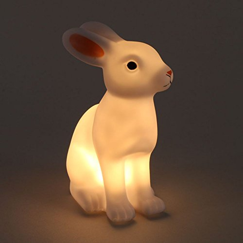 Peyan Cute Rabbit LED Night Light Nursery Lamp - Safe For Kids Christmas Holiday Party and (Mind Motion Halloween Party)