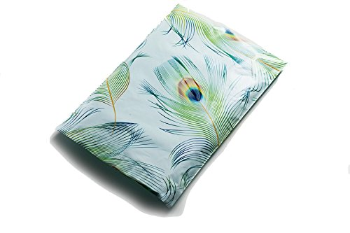 10x13 blue green peacock designer poly mailers shipping