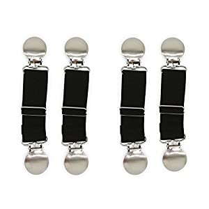 Boncas Improved Sturdy Adjustable Elastic Boot Straps Pant Clips Stirrups & Leg Straps Keeping Your Pants Tucked