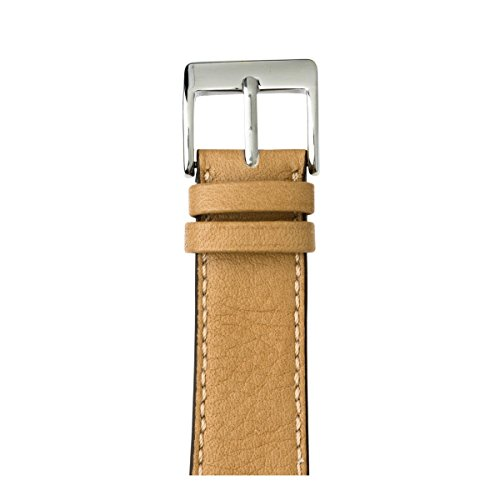 Roobaya | Premium Sauvage Leather Apple Watch Band in Sand | Includes Adapters matching the Color of the Apple Watch, Case Color:Stainless Steel, Size:42 mm by Roobaya