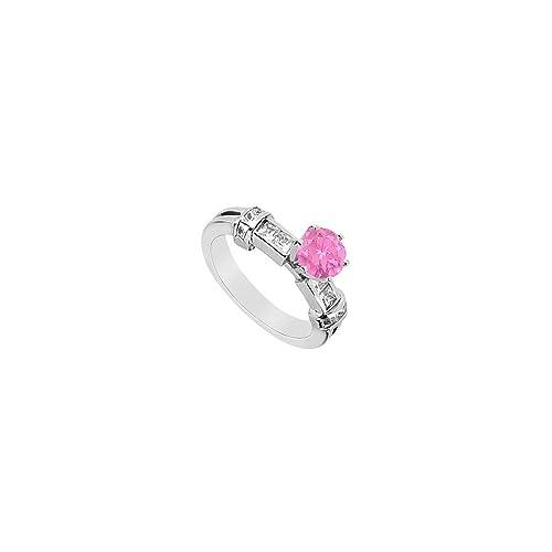 Anello fidanzamento zaffiro rosa
