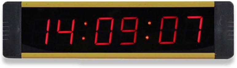 スポーツタイマー LEDインターバルタイマーカウントトレーニングタイマージムボクシングストップウォッチLEDウォールクロックリモートコントロール付きフィットネス用 バスケ 卓球 テニス サッカー 競技 試合用 (色 : 青, サイズ : 21.5X5.5X2CM) 青 21.5X5.5X2CM