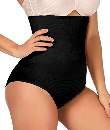 ShaperQueen 102C Best Womens Waist Cincher Body Shaper Trimmer Trainer Slimmer Thong Girdle Faja Bodysuit Short Tummy Belly Control Brief Corset PlusSize Underwear Panty Shapewear (XXL, Black)