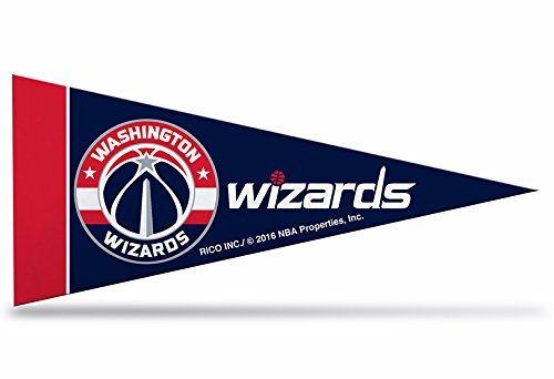 Zipperstop 8 Pack Officially Licensed NBA Wizards Mini Pennants, 4'' x 9'' by Zipperstop