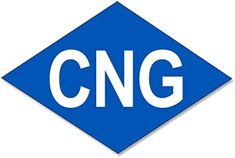 Compressed Natural Gas bio Fuel American Vinyl Blue Diamond Shaped CNG Logo Sticker