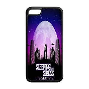 Custom Popular Rock Band SWS Sleeping With Sirens Case for iPhone 4/4s Rubber Cover Case-4/4sSWS120