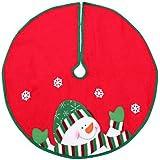 DYNO SEASONAL SOLUTIONS 2243649-3CC Tree Skirt, 24-Inch, Red/White