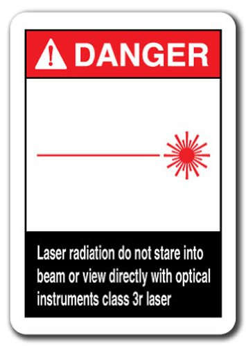 (Danger Sign - Laser Radiation Do Not Stare Into Beam Or View Directly with Optical Instruments Class 3r Laser 7