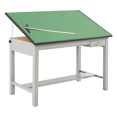 Safco 3962GR3952KIT Precision Drafting Table, 60''W Tabletop, 4 Post Steel Base, Non-Glare Green Lami by Safco