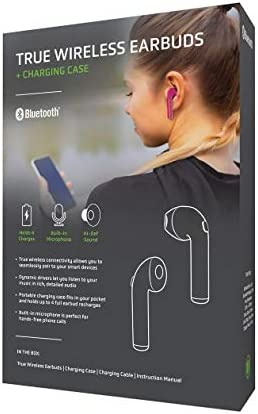 New Fashion Style Of True Wireless Earbuds by TechUp (Turquoise) Pink YjoV00v
