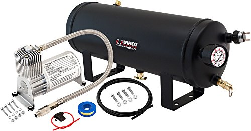 Vixen Horns 1.5 Gallon (6 Liter) Train/Air Horn Tank with 150 PSI Compressor Onboard System/Kit 12V VXO8715