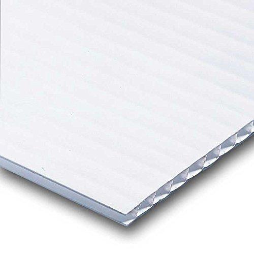 Corrugated Plastic Signs Blank Sheet 4mm x 18 x 24 (100 Bulk Pack) (Short Flute)