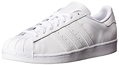 Adidas ORIGINALS Women's Superstar Fashion Running Shoe, White, (11 M US)